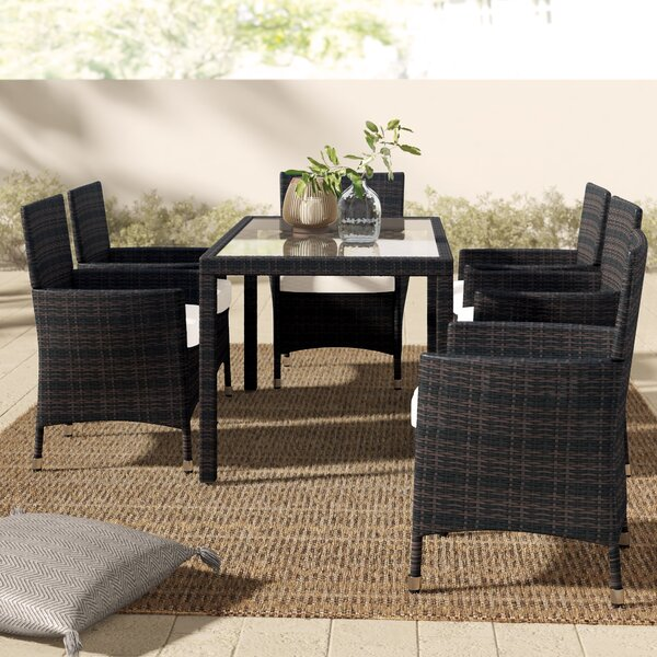 Tinker 7 Piece Dining Set With Cushions By Mistana