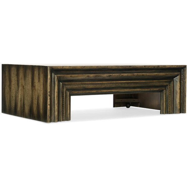 American Life-Crafted Coffee Table With Tray Top By Hooker Furniture