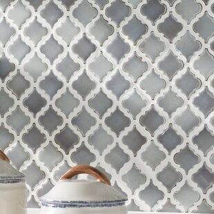 Mosaic tile youll love wayfair pharsalia 2 x 225 porcelain mosaic tile in glossy gray ppazfo