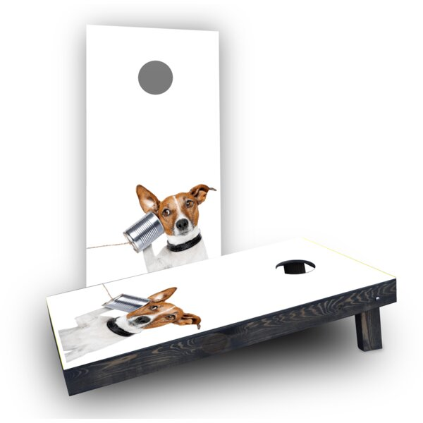 Dog Phone Cornhole Boards (Set of 2) by Custom Cornhole Boards