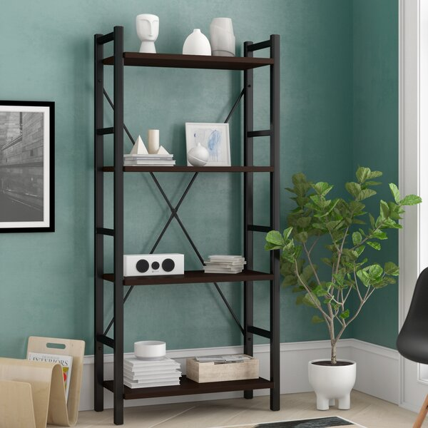 Illinois Dark Walnut Etagere Bookcase by Ebern Designs