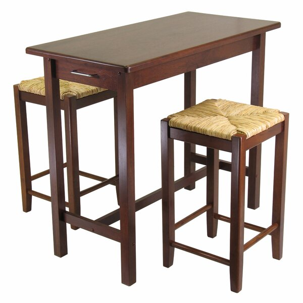 Clayhatchee 3 Piece Counter Height Dining Set by Red Barrel Studio Red Barrel Studio