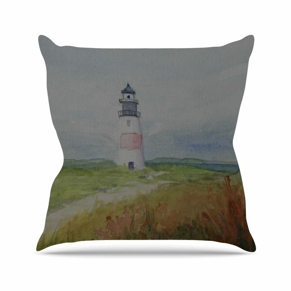 Cyndi Steen Sankaty Lighthouse Outdoor Throw Pillow by East Urban Home