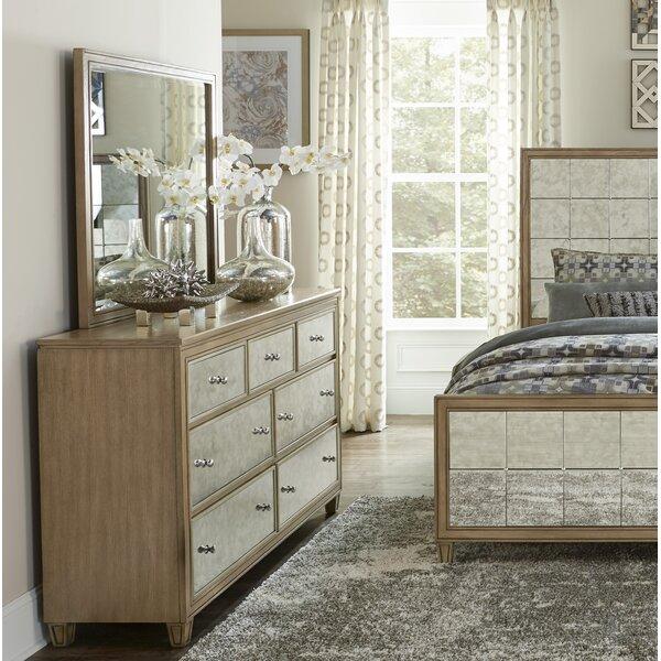 Gunnar 7 Drawer Dresser with Mirror by Rosdorf Park