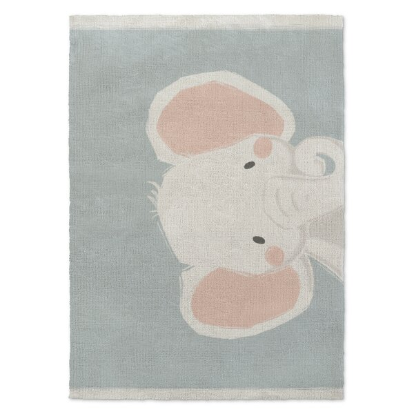Allenville Elephant Orange/White/Green Area Rug by Harriet Bee