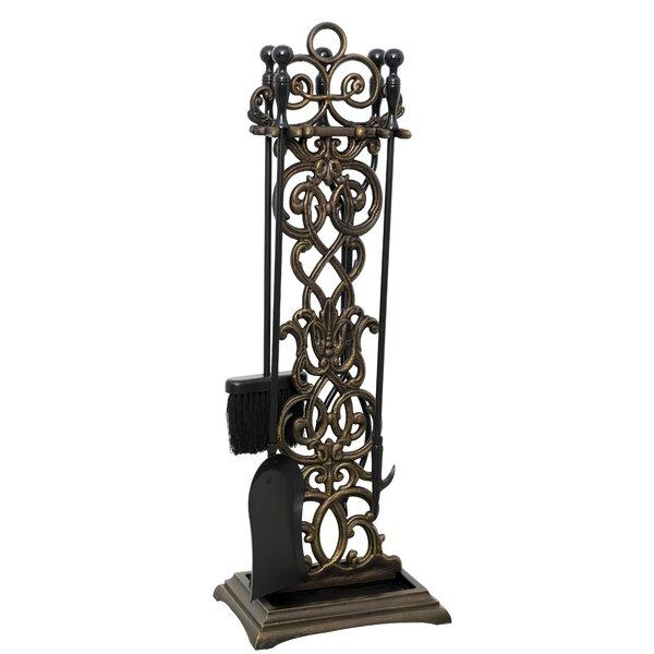 Vineyard 5 Piece Iron Fireplace Tool by Ornamental Designs