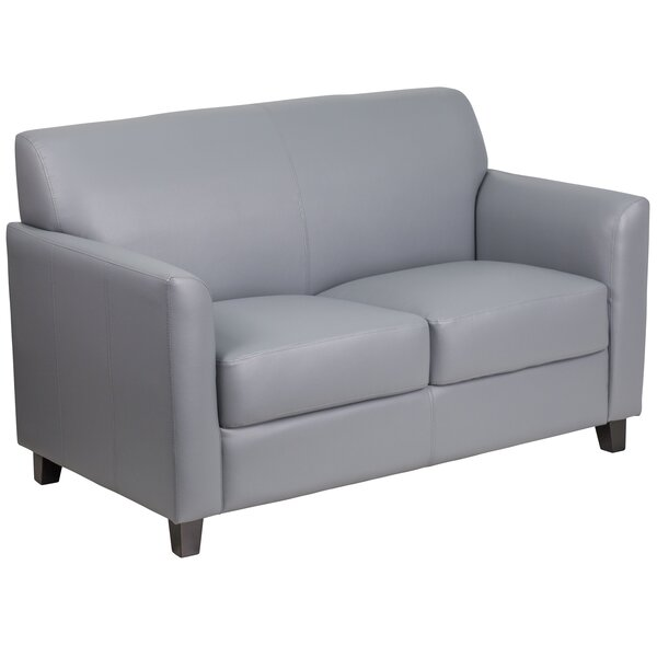 Trendy Modern Letcher Diplomat Series Leather Loveseat by Red Barrel Studio by Red Barrel Studio