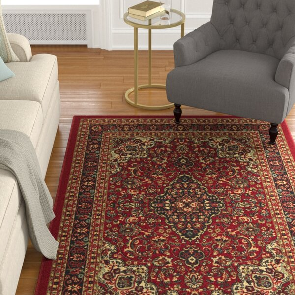 Ryan Synthetic Nylon Red Area Rug by Astoria Grand