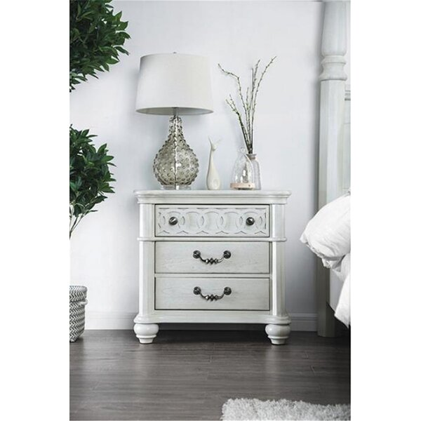 Zebediah 3 Drawer Nightstand by Rosdorf Park