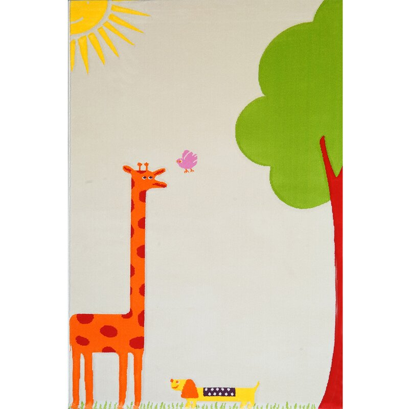 Kids Nursery Cream Area Rug