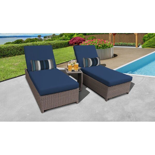 Rochford Sun Lounger Set with Cushion and Table