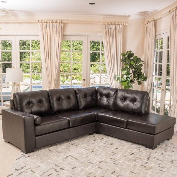 Home Décor Mccollom Leather Right Hand Facing Sectional