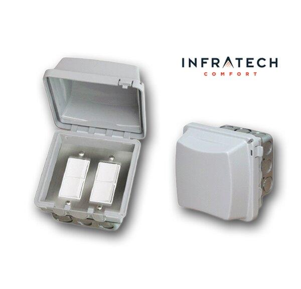 In-Wall Waterproof Double Duplex Switch By Infratech