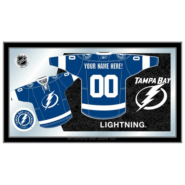 NHL Jersey Mirror Framed Graphic Art by Holland Ba