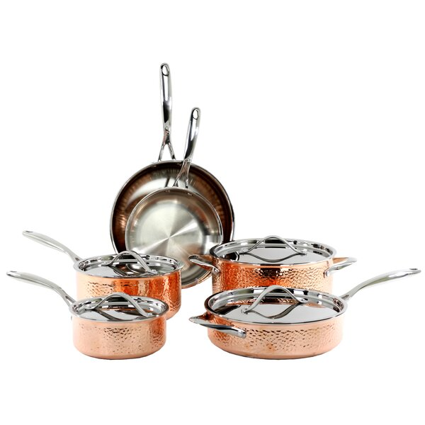10 Piece Hammered Cookware Set by Oneida