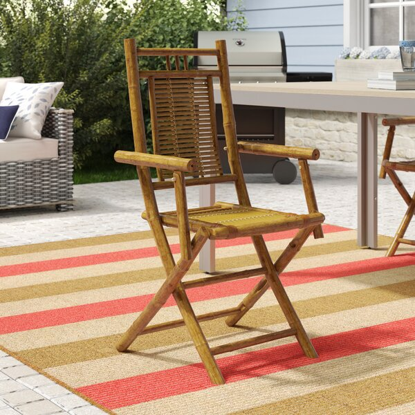 Josephine Folding Patio Dining Chair by Beachcrest Home