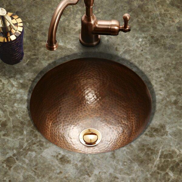 Hammerwerks Metal Circular Undermount Bathroom Sink with Overflow