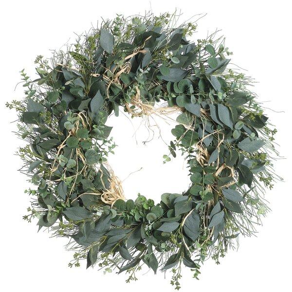Artificial Eucalyptus Mixed 26 Wreath by Gracie Oaks
