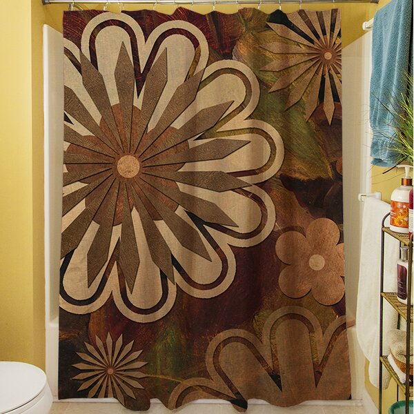 Floral Abstract I Shower Curtain by Manual Woodworkers & Weavers