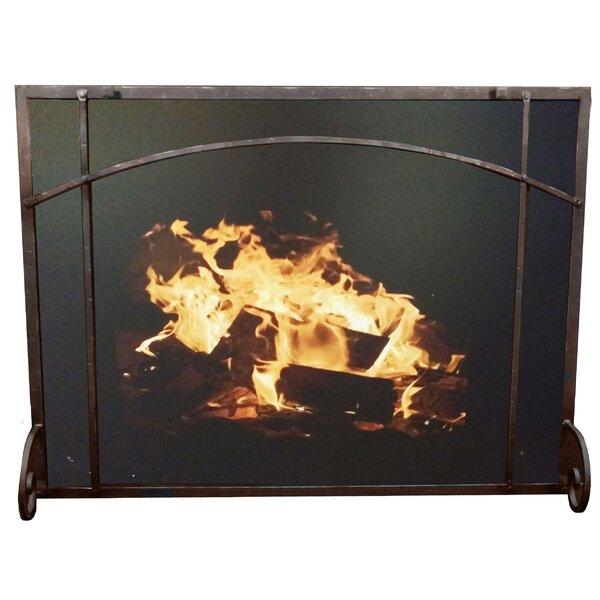 Single Panel Steel Fireplace Screen By Ironhaus, Inc.