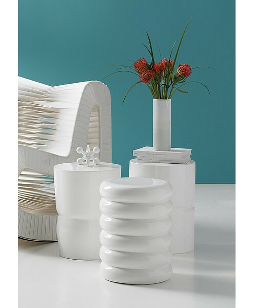 Knowlton Ribbed Accent Stool by Everly Quinn