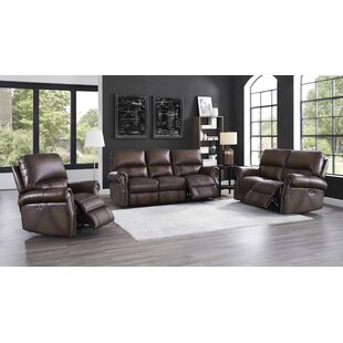 Benvolio Genuine Leather Reclining Living Room Set by Winston Porter