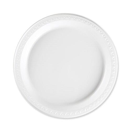Reusable/Disposable Plastic Plates White  sc 1 st  Wayfair & Genuine Joe Reusable/Disposable Plastic Plates White | Wayfair