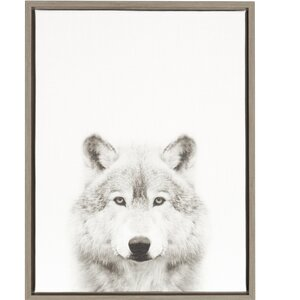 'Wolf Portrait' Framed Photographic Print on Wrapped Canvas by Ivy Bronx