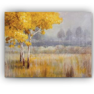 'Landscape' by Danhui Nai Painting Print on Wrapped Canvas by Wexford Home