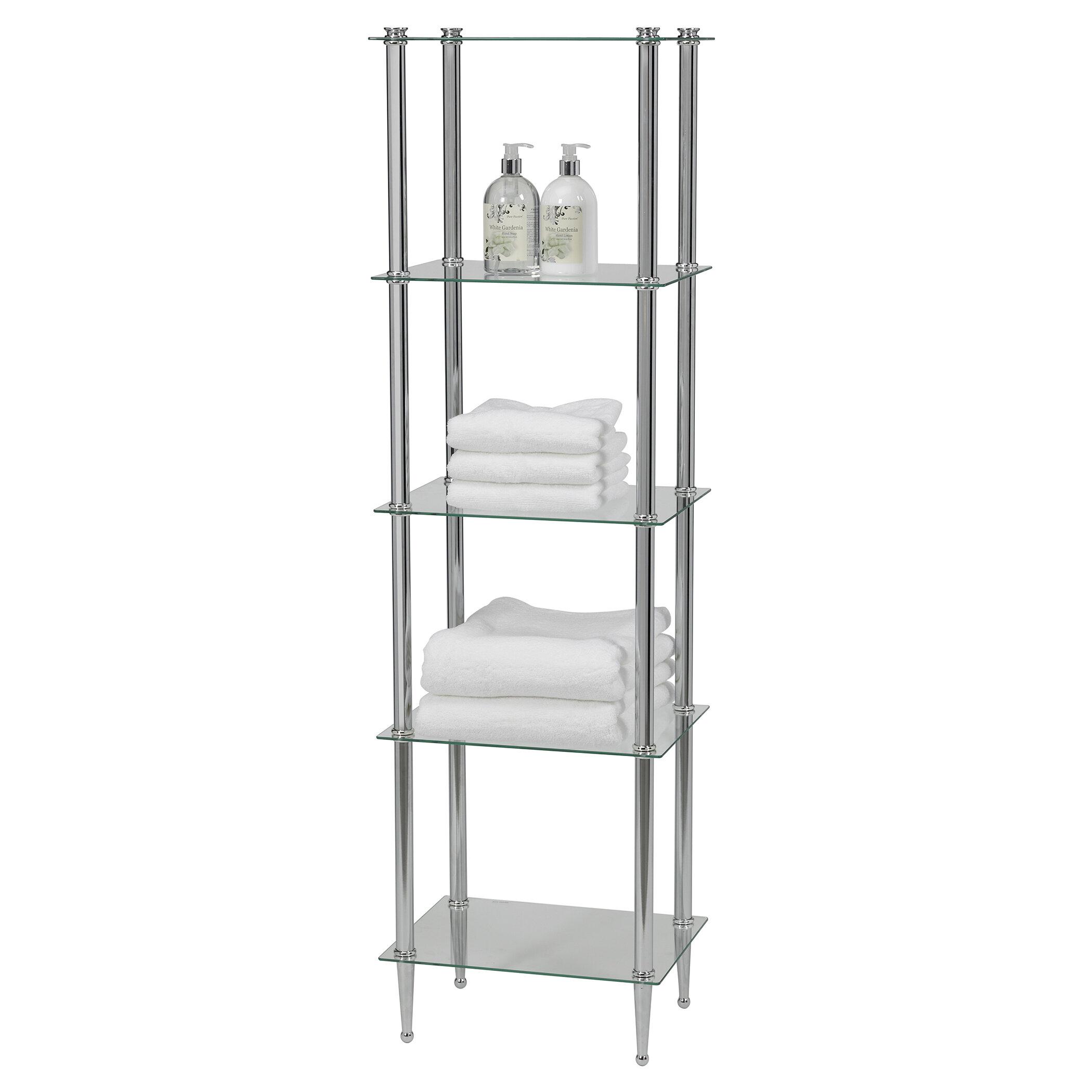 Rebrilliant Sciortino 16 W X 55 H X 12 D Metal Free Standing Bathroom Shelves Reviews Wayfair