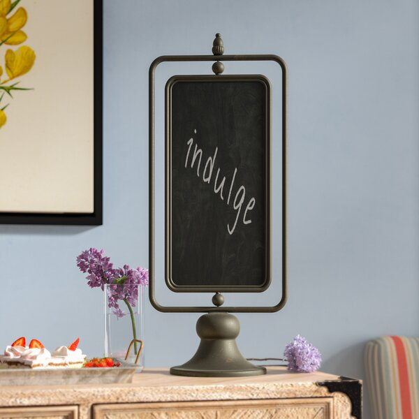 Metal Free Standing Chalkboard by Laurel Foundry Modern Farmhouse