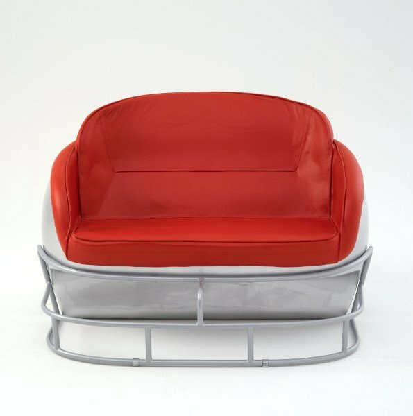 NCAA Football Helmet Loveseat by Butt'N Head