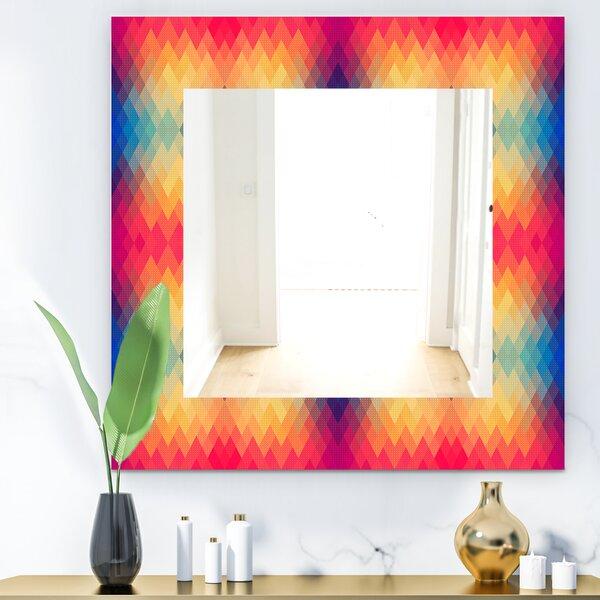 Colorful Geometric Accent Mirror