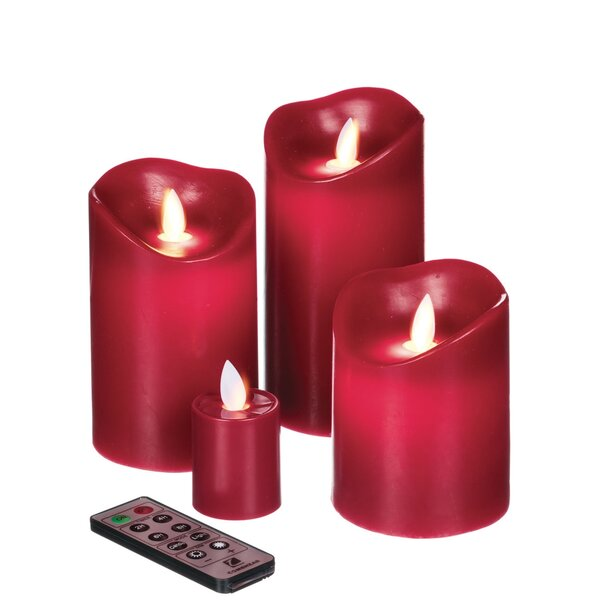 4 Piece Unscented Flameless Candle Set by The Holiday Aisle