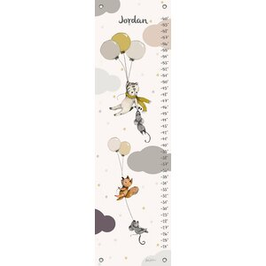 Flying Away Personalized Canvas Growth Chart by Oopsy Daisy