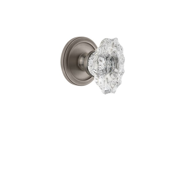 Biarritz Privacy Door Knob with Circulaire Rosette by Grandeur