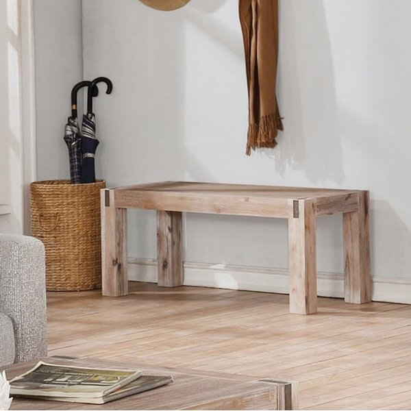Henry Solid Wood Bench By Gracie Oaks