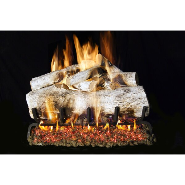 Mountain Birch Natural Vent Natural Gas/Propane Logs By Real Fyre