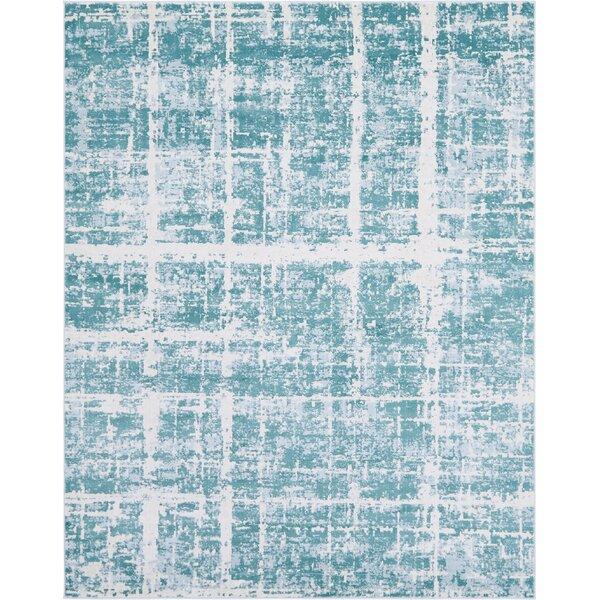 Uptown Lexington Avenue Turquoise Area Rug by Jill Zarin™