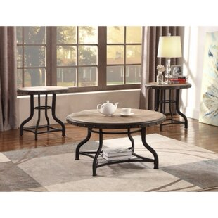 Catarina Solid Wooden 3 Piece Coffee Table Set Gracie Oaks