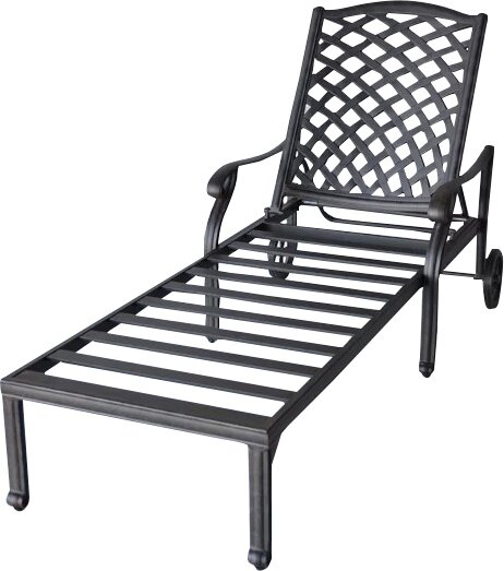 Nola Reclining Chaise Lounge with Cushion by Darby Home Co Darby Home Co
