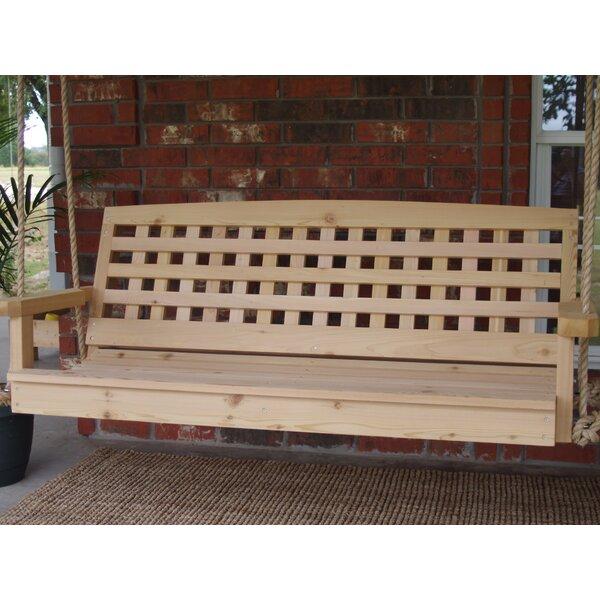 Trinh Cedar Lattice Back Rope Porch Swing by Gracie Oaks