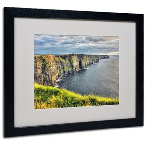 Cliffs of Moher Ireland by Pierre Leclerc Framed Photographic Print by Trademark Fine Art