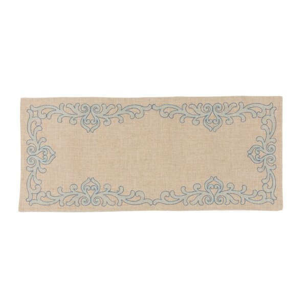Kupang Celeste Glistening Embroidered Table Runner by Ophelia & Co.