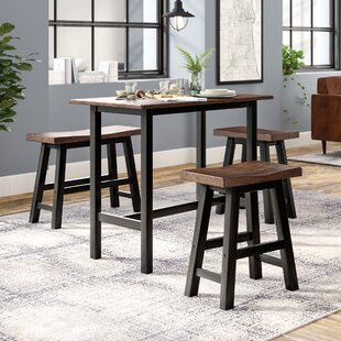 Chelsey 4 Piece Solid Wood Dining Set