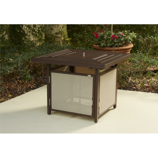 Crawford Patio Aluminum Propane Fire Pit Table by Andover Mills