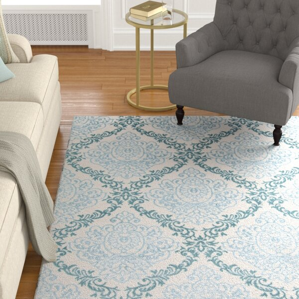 Kinsley Blue/Ivory Area Rug by Alcott Hill