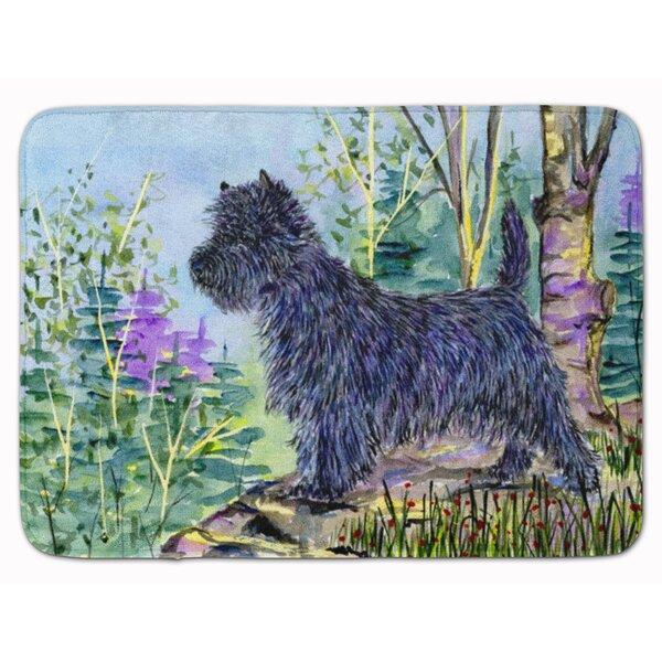 Cairn Terrier Rectangle Microfiber Non-Slip Bath Rug