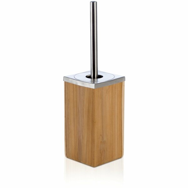 Teak Wood Free Standing Toilet Brush and Holder by AGM Home StoreTeak Wood Free Standing Toilet Brush and Holder by AGM Home Store