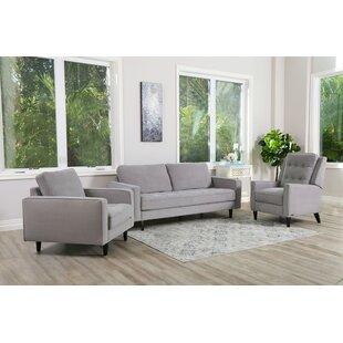 Kohen 3 Piece Living Room Set by Brayden Studio®